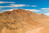 landscape and nature concept - aerial view of grand canyon mountains from helicopter