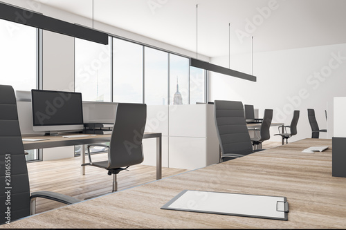 Corporate coworking office interior - 238165551