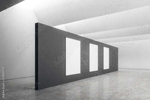 Leinwandbild Motiv Modern office with poster