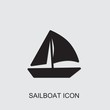 sailboat icon . Editable filled sailboat icon from emotions. Trendy sailboat icon for web and mobile.