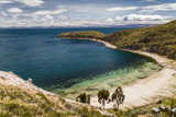 View at a beach in Isla del Sol, Titicaca, Bolivia
