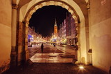 Christmas decoration of the city of Gdansk