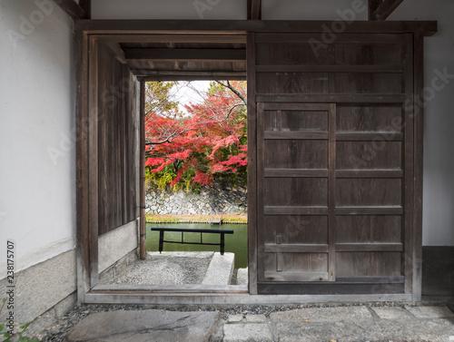 idyllic landscape in Omihachiman, Japan in autumn season © leeyiutung