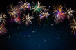 Firework background . New Year background.