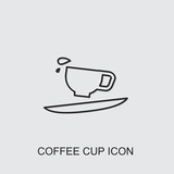 coffee cup icon . Editable line coffee cup icon from fastfood. Trendy coffee cup icon for web and mobile.