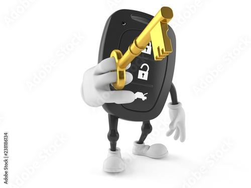 Car remote key character holding door key
