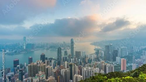 Time lapse of Hong Kong cityscape.
