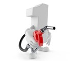 Number one character holding gasoline nozzle - 238193377