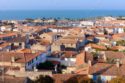 Panoramic view of Saint-Martin-de-Re from the church, Re Island, France - 238202504
