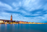 Long exposure sunset in Venice in Italy