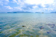 Beautiful view of Koh Wai islands, blue sea with blue sky at Trat Province, Thailand.
