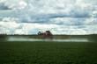 Pulverização de herbicida em plantações onde havia o cerrado nativo