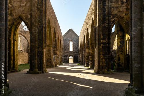 Ruines de l'abbaye Saint-Mathieu de Fine-Terre à Plougonvelin (Finistère, France)