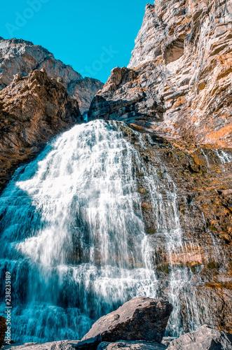 waterfall Cola de Caballo. Ordesa, Spain