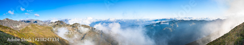 panorama of mountain top landscape