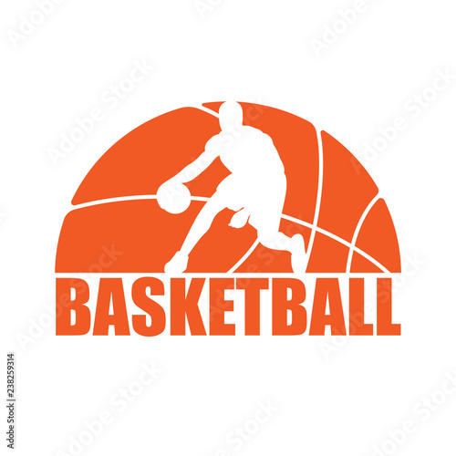 Basketball silhouette player