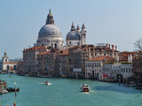 A view towards Venice in Italy