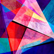 Abstract brightly multicolored watercolor shape ornament geometry