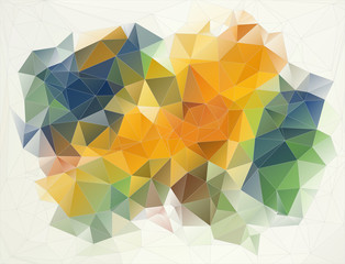 Flat retro color geometric triangle background