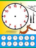 clock face cartoon educational page