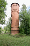 View of the water tower. Water supply in the village.