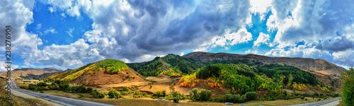 landscape mountains trees - 238276904