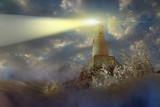 view light of lighthouse 3D render
