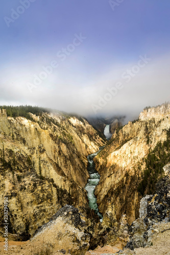 Clouds Above the Falls, Yellowstone, WY - 238294752