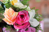 rose artificial flower as valentine background