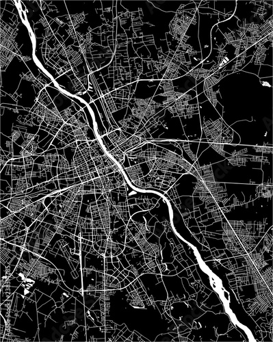 Map of the city of Warsaw, Poland - 238314785