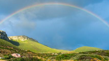 Rainbow on dark sky. © anetlanda
