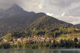 Auronzo di Cadore, Italy a picturesque view of the city in the foothills of the Alps