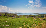 The Ring of Kerry, view to the atlantic ocean,