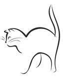 Стилизованный набросок кошки