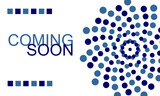 Coming Soon. Horizontal banner with dots. Vector graphic illustration.