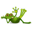 Stock Illustration Thick Frog Resting