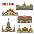 Thai travel landmark of Bangkok architecture