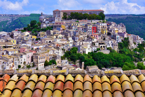 Fototapeta panorama of Ragusa Sicily Italy