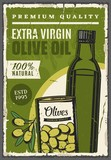 Organic olive oil extra virgin bottle and pickles - 238382931