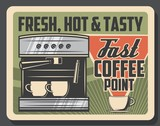 Coffee machine, cafe and coffeeshop espresso