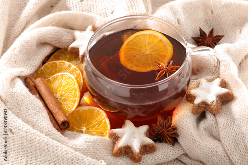 winter drink , hot tea