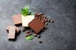 Leinwanddruck Bild - Chocolate and coffee beans