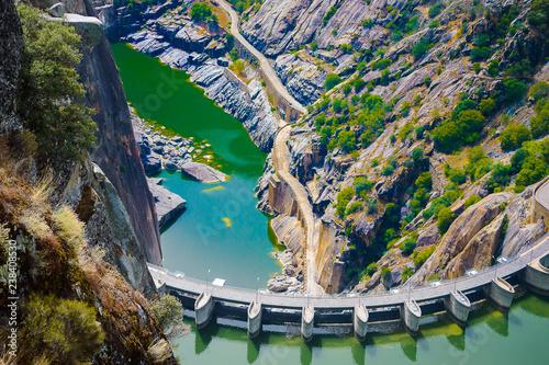 Aldeadavila dam in the Duero river - 238408530