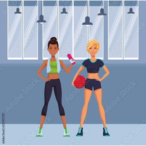 Dopasuj kobiety do ćwiczeń