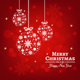 Merry christmas vector background. Xmas ornaments. - 238417331