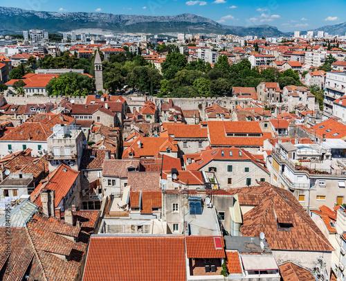 Roofs of houses in Split.