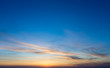 Colorful sunset sky over tranquil sea surface - 238427796