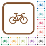 Bicycle simple icons