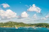 Summer holidays background blue sky sea landscape
