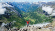 be tourist in norway mountains